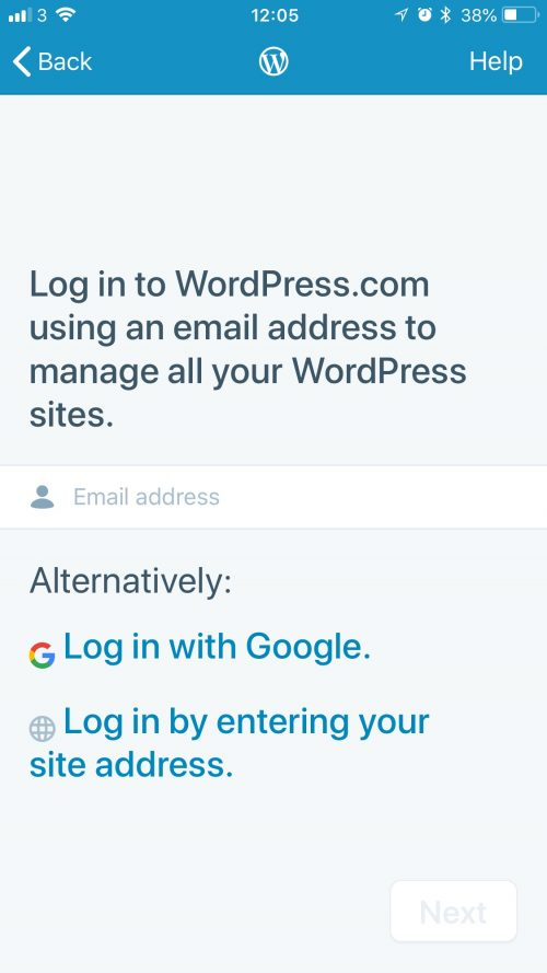 Log in to Wordpress from your Mobile